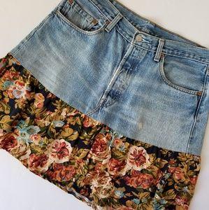 Dresses & Skirts - ♡ Handmade Levi's Patchwork Style Skirt ♡